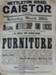 Furniture Sale Poster Nettleton Road; Parkers, Printers, Market Place, Caistor; C1920's; L/CAIHC/2013/06
