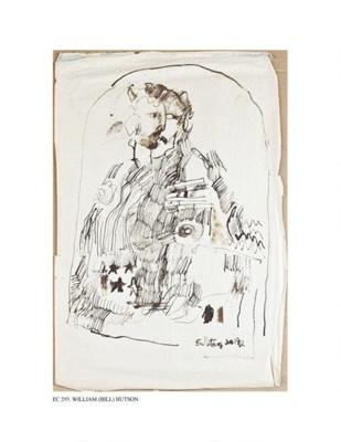 War and Peace, Twp of 2, 1962; Bill Hutson (American Painter b. 1936); 1962; EC293