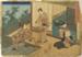 Japanese print of balcony scene and three women; Utagawa Toyokuni (Japanese printmaker, active 1769-1825); n.d.; EC47JP