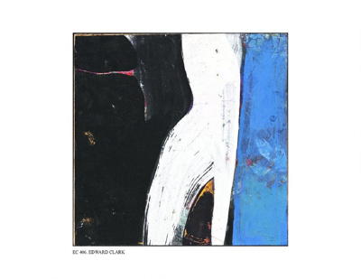 Abstract: Blue, White, Black 1; Edward Clark (American b.1926); 1967; EC406