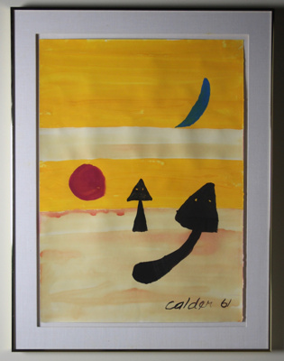 [Untitled]; Alexander Calder,(American sculptor, painter, and designer, 1898-1976); 1961; 5573