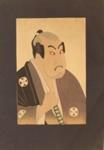 Japanese print of man grasping sword; Unknown; n.d.; EC145JP