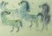 Prancing Horses/Good News; Reuven Rubin (Israeli painter, 1893-1974); 1967; 5553
