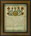 """""""Geburts und Taufschien"""" (Birth and Baptismal Certificate for Herieda Schetler); Unknown; 1819; 1515"""