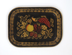 Decorated Tinware Tray ; Unknown (American, 19th century); 19th century; 8897