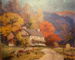 Stone Farm House in Autumn; Walter I. Mattern (American painter, 1891-1946); c. 1940; 699
