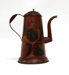 Painted Tinware Coffee Pot; Unknown; 19th century; 8926