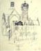 Untitled [Church]; Bill Hutson (American Painter b. 1936); 1959; EC847