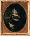 Ambrotype of Frank Cox aged 5 years; c. 1856; 2012.00.149