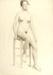 [Nude woman on a stool]; Caroline Peart (American, 1870-1963); late 19th C; 3706