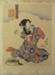 Japanese print of woman washing clothes; Utagawa Kunisaga (Japanese printmaker and illustrator, 1786-1864); n.d.; EC92JP