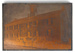 Copper intaglio printing plate with image of old Lancaster Jail; Unknown; 19th century?; 2015.00.185