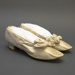 Silk satin shoes, decorated with bow, ca. 1890s; LDFAN2019.19 A+B