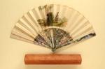 Folding Fan & Box; c. 1860 - Fan; LDFAN1999.24.1 & LDFAN1999.24.2