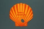 Advertising fan for Shell Premium gasoline; c. 2000; LDFAN2012.61