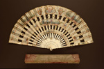 Folding Fan & Box; c. 1900 - Fan; LDFAN2008.45.A & LDFAN2008.45.B