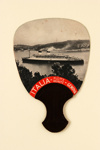 Advertising fan for Crociere, Mediterranean Cruises; 1933; LDFAN2007.45