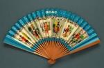 Folding fan advertising British Overseas Airways Corporation (BOAC) - Speedbird; Adelman, K. M; c. 1950s; LDFAN1995.48