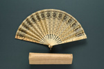 Folding Fan & Box; c. 1918; LDFAN2003.257.Y