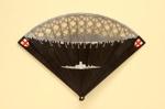 Plastic Brisé 'City of London' Fan and Box; Brooker, John; 1987; LDFAN1994.117.1 & LDFAN1994.117.2