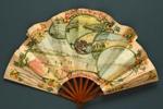 Folding fan advertising Chemins de Fer de l'Etat; Eventails Chambrelent; c. 1900; LDFAN2003.409.HA