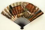 Folding fan advertising Japan Air Lines; c. 1970s; LDFAN2003.118.Y