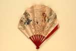 Advertising fan for the Carlton Hotel, London; Maquet; c. 1910; LDFAN2013.38.HA