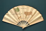 Advertising fan for Grand Hotel, Rome; c. 1950; LDFAN2013.27.HA