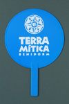 Advertising fan for Terra Mitica, Benidorm, Spain; LDFAN2003.437