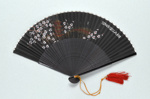 Advertising fan for Swissair Chinese c. 1960; LDFAN1996.6