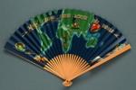 Folding fan advertising British Overseas Airways Corporation (BOAC) ; 1960s; LDFAN1991.37