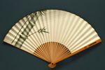 Folding fan advertising Lufthansa Japan, c. 1958; LDFAN2003.127.Y