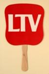 Advertising fan for LTV, TX, USA; 1984; LDFAN2003.116.Y