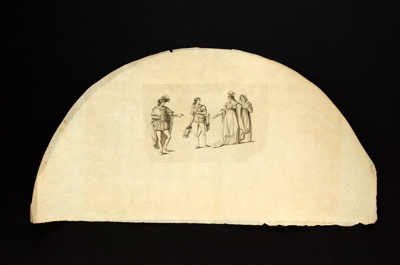 English Fan Leaf; c.1810; LDFAN2006.63