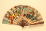 Advertising fan for Hotel Westminster, Paris; c.1909; LDFAN2013.28.HA