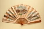 Commemorative fan for the 1873 'World's Columbian Exhibibition'; John W. Green; 1892; LDFAN2003.40.Y