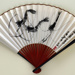 Advertising fan for Civil Aviation Administration of China (CAAC); c. 1960; LDFAN2003.405.HA