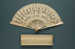 Folding Fan & Box; c. 1900; LDFAN2011.86.A & LDFAN2011.86.B