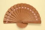 Sandalwood Brisé Fan; c.1990s; LDFAN1992.94