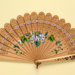 Wooden Brisé Painted Fan; LDFAN1992.16