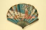 Advertising fan for Pruniers / Moet & Chandon; Gaston Dreyfus; Benda, G K; c.1913; LDFAN2013.15.HA
