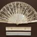 Folding Fan & Box; c. 1880; LDFAN1993.15.1 & LDFAN1993.15.2