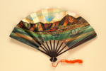 Advertising fan for the Manderin Hotel, Hong Kong; c.1970s; LDFAN2013.25.HA