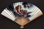 Advertising fan for Civil Aviation Administration of China (CAAC); c. 1960s; LDFAN1998.30