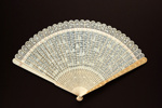 Ivory Brisé Fan, Chinese, & Box; c.1790; LDFAN2009.51.A & LDFAN2009.51.B