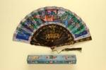 Folding Fan & Box; c. 1860; LDFAN2003.135.Y