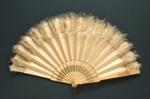 Folding Fan & Box; 1880s - Fan; LDFAN2003.259.Y.A & LDFAN2003.259.Y.B