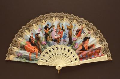 Folding Fan; c. 1960s; LDFAN1999.22