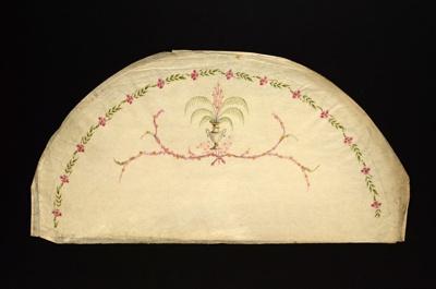 English Fan Leaf ; late 18th/early 19th century; LDFAN1990.20