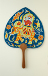 Advertising fan for Air India; c. 1960; LDFAN1998.33